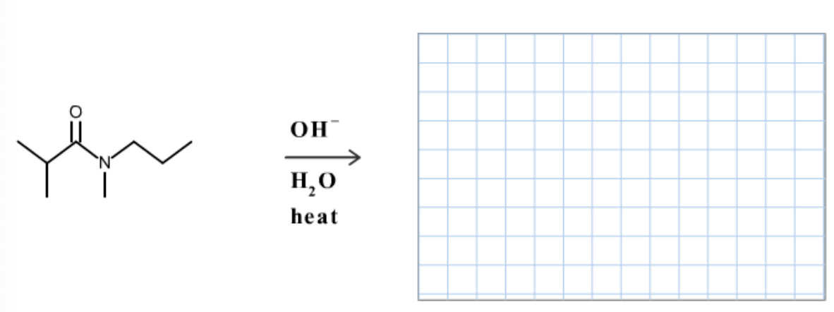 Draw the organic products formed in the following reaction.